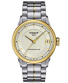 Tissot Watch, Women's Swiss Automatic Luxury Two-Tone Stainless Steel Bracelet 33mm T0862072226100