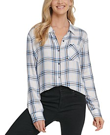 Plaid One-Pocket Shirt
