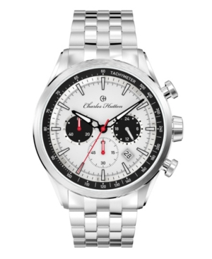 Men's Aristocrat Chronograph Silver Stainless Steel Strap Watch 44mm