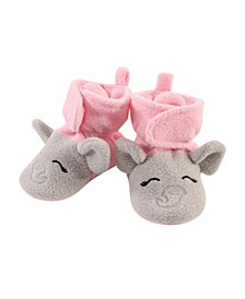Baby Toddler Girls Elephant Cozy Fleece Booties