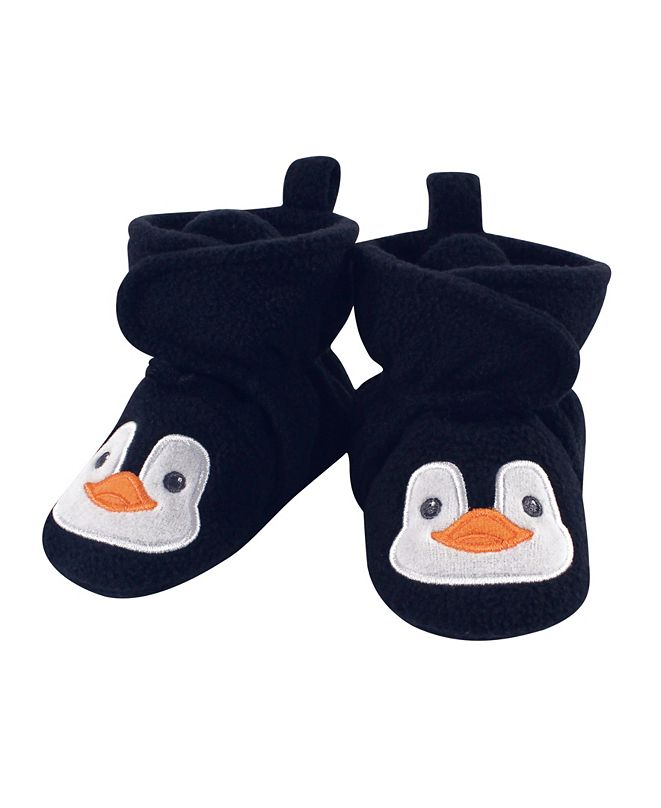 Hudson Baby Baby Girls and Boys Penguin Cozy Fleece Booties