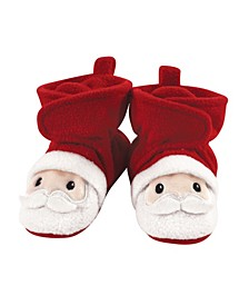 Baby Girls and Boys Santa Cozy Fleece Booties