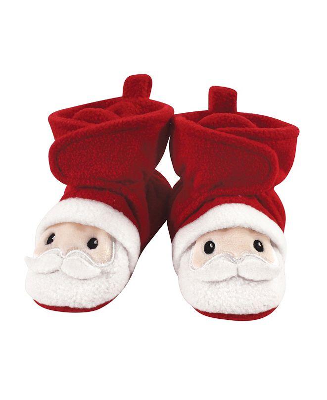 Hudson Baby Baby Girls and Boys Santa Cozy Fleece Booties