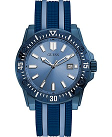 Men's Sky Blue & Navy Silicone Watch 46mm