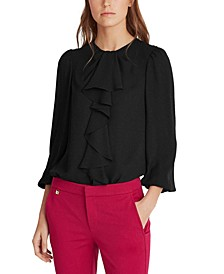 Ruffle-Trim Blouse
