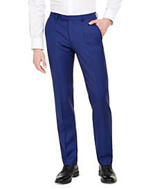 Hugo Boss Men's Modern-Fit Bold Blue Solid Suit Separate Pants