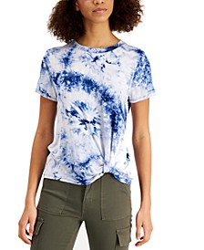 Juniors' Twisted Tie-Dyed T-Shirt