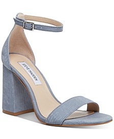 Dillion Block-Heel Two-Piece Sandals
