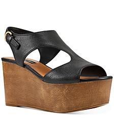 Edge Platform Wedge Sandals