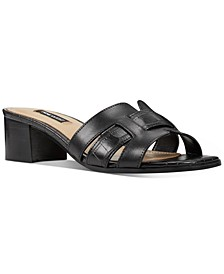 Gizella Block-Heel Slide Sandals