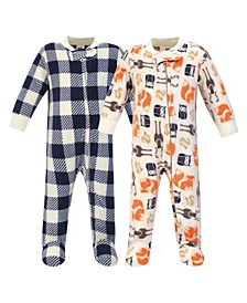 Baby Girls and Boys Forest Fleece Sleep and Play