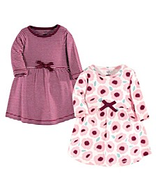 Toddler Girls Blush Blossom Long-Sleeve Dresses, Pack of 2