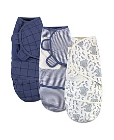 Baby Girls and Boys Elephant Swaddle Wraps, Pack of 3