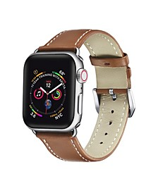 Men's and Women's Apple Brown Leather Replacement Band 44mm