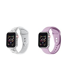 Men's and Women's Apple Marble Sweet Lilac Silicone, Leather Replacement Band 40mm