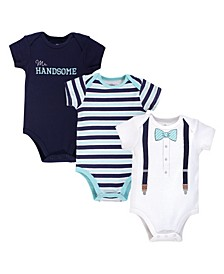 Baby Girls and Boys Mr Handsome Bodysuits, Pack of 3