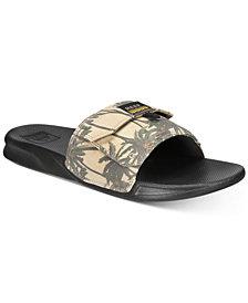 REEF Men's Tropical Stash Slide Sandals