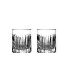 Aras Double Old Fashioned Glasses, Set of 2