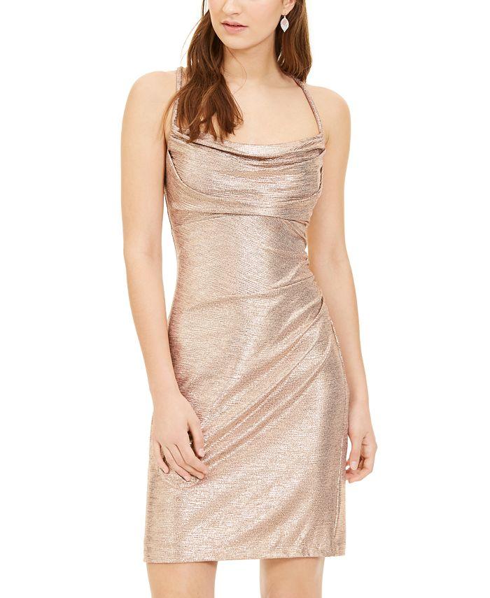 Morgan & Company - Juniors' Metallic Bodycon Dress