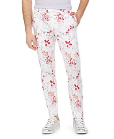 INC Men's Slim-Fit Julian Floral Pants, Created for Macy's