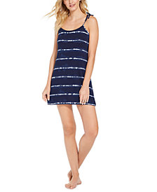 Jenni Printed Tie-Shoulder Chemise Nightgown, Created for Macy's