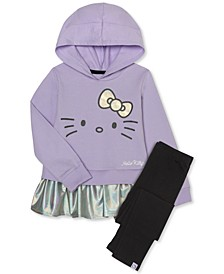 Little Girls 2-Pc. Peplum Hoodie & Leggings Set