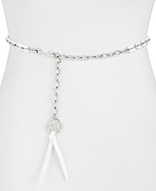 Woven Leather Chain Belt