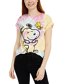 Juniors' Snoopy Woodstock Printed Graphic T-Shirt