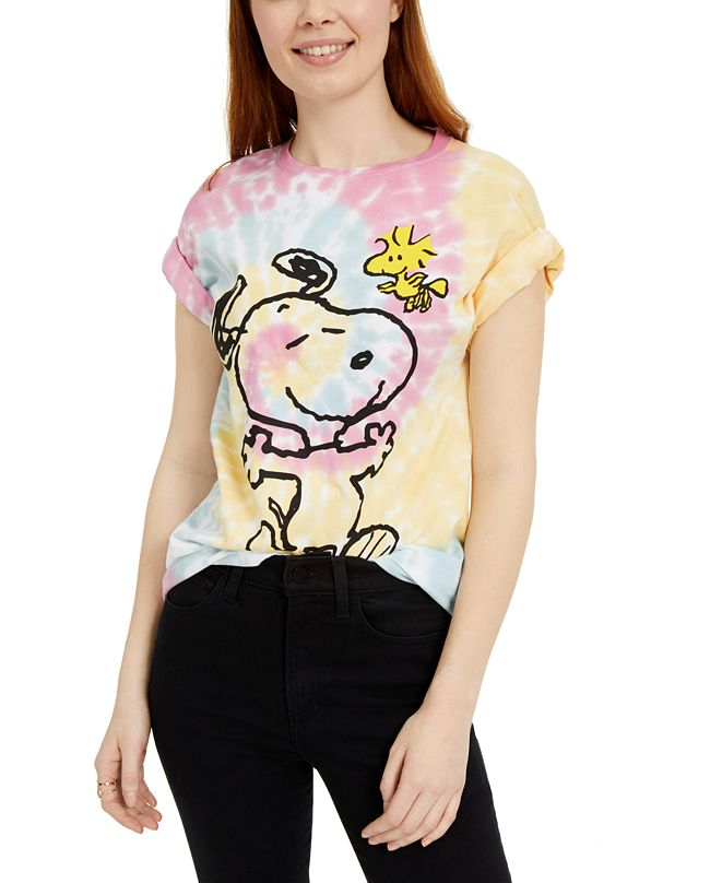 Peanuts Juniors' Snoopy Woodstock Printed Graphic T-Shirt