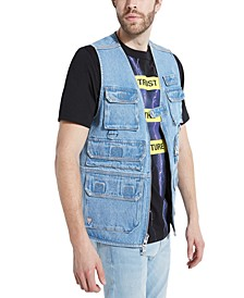 Men's Denim Utility Vest