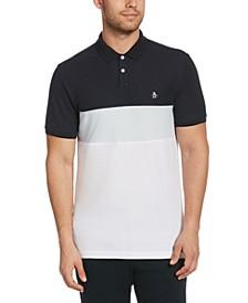 Men's Colorblocked Piqué Polo Shirt