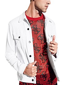 Men's Optic White Denim Jacket