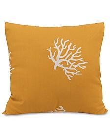 "Coral Decorative Throw Pillow Extra Large 24"" x 24"""