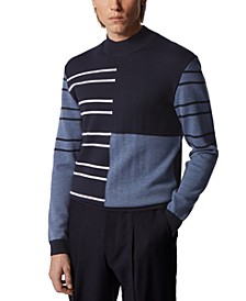 BOSS Men's Ogusto Dark Blue Sweater