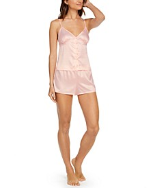 INC Button Cami & Shorts Pajama Set, Created for Macy's