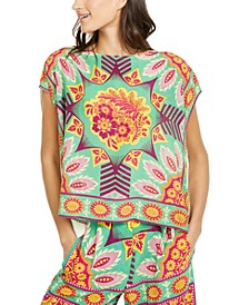 Printed-Front Boxy Top