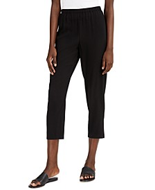 Cropped Straight-Leg Pants, Regular & Petite Sizes