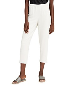 Silk Tapered Pants, Regular & Petite Sizes