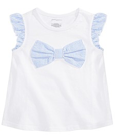 Baby Girls Seersucker Bowtie T-Shirt, Created for Macy's