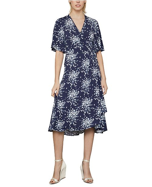 BCBGMAXAZRIA Floral-Print Wrap Dress