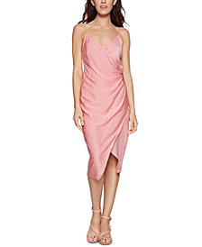 BCBGeneration Asymmetrical Satin Midi Dress