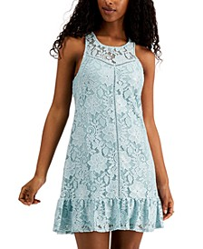 Juniors' Lace Shift Dress
