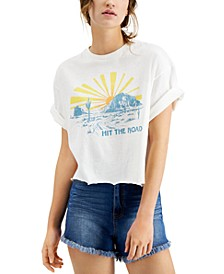 Hit The Road Distressed Graphic T-Shirt