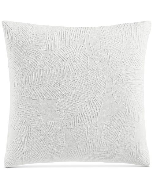 "Charter Club Woven Leaves 258-Thread Count 18"" x 18"" Decorative Pillow, Created for Macy's"