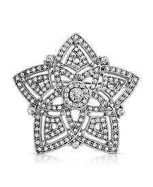 Pave Crystal Evening Star Brooch