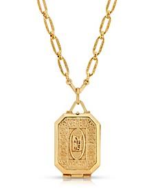 Maria Antoinette Square Locket Necklace