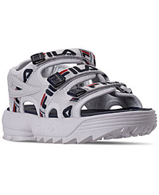 Fila Big Boys' Disruptor Athletic Sandals from Finish Line