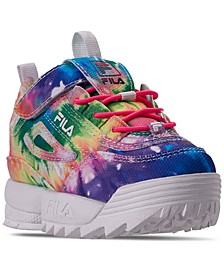 Toddler Girls' Disruptor II Tie Dye Casual Sneakers from Finish Line