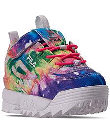 Fila Toddler Girls' Disruptor II Tie Dye Casual Sneakers from Finish Line