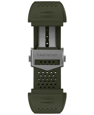 Tag-Heuer-Mens-Connected-Interchangeable-Green-Rubber-Strap-Watch-45mm
